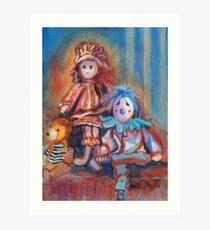 Teddy Bear and Dolls Art Print