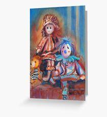 Teddy Bear and Dolls Greeting Card