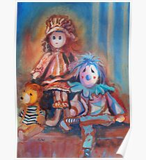 Teddy Bear and Dolls Poster