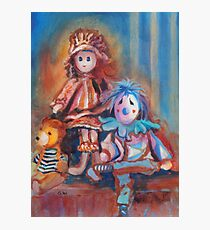 Teddy Bear and Dolls Photographic Print