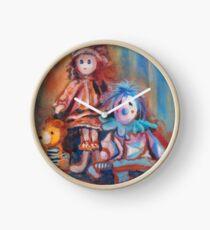 Teddy Bear and Dolls Clock