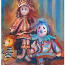 Teddy Bear and Dolls by Giselle Luske