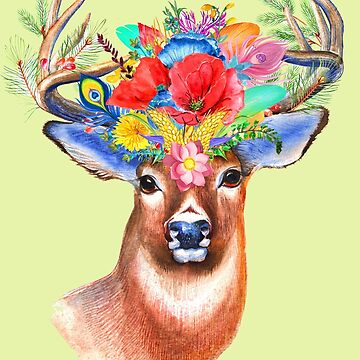 Floral Stag by mccabet