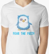Cute baby penguin - fear the fuzzy Men's V-Neck T-Shirt