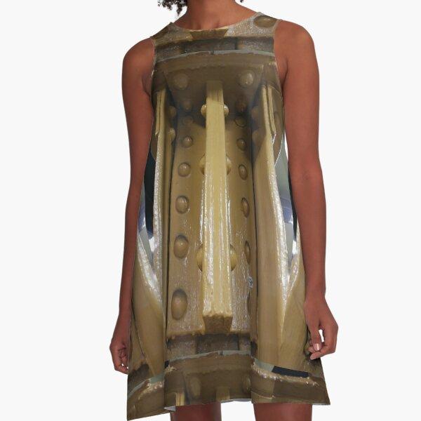 Metal riveted pillars, Not Wood A-Line Dress