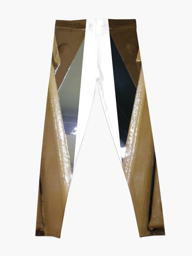 Alternate view of Metal riveted pillars, Not Wood Leggings