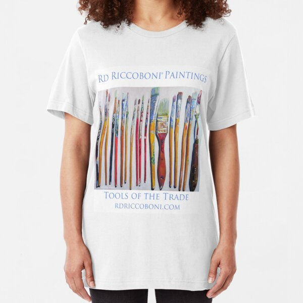 Tools of The Trade by RD Riccoboni - Artist Paint Brushes Slim Fit T-Shirt