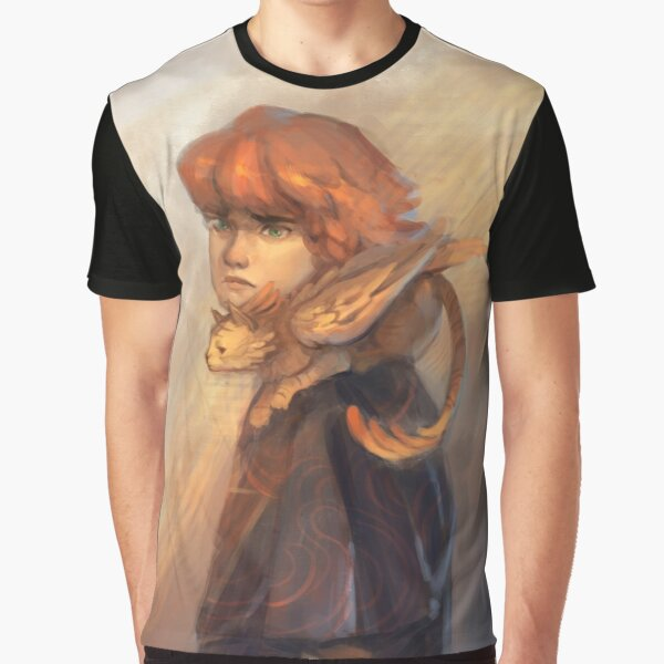 A Boy with his Phoenix Cat Graphic T-Shirt
