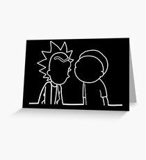 wubba lubba dub dub Greeting Card