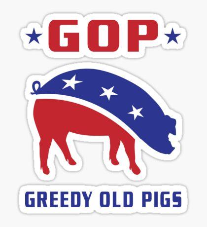 GOP Greedy Old Pigs Sticker