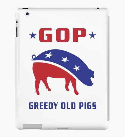GOP Greedy Old Pigs iPad Case/Skin