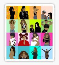 collage. #1651artseries Sticker