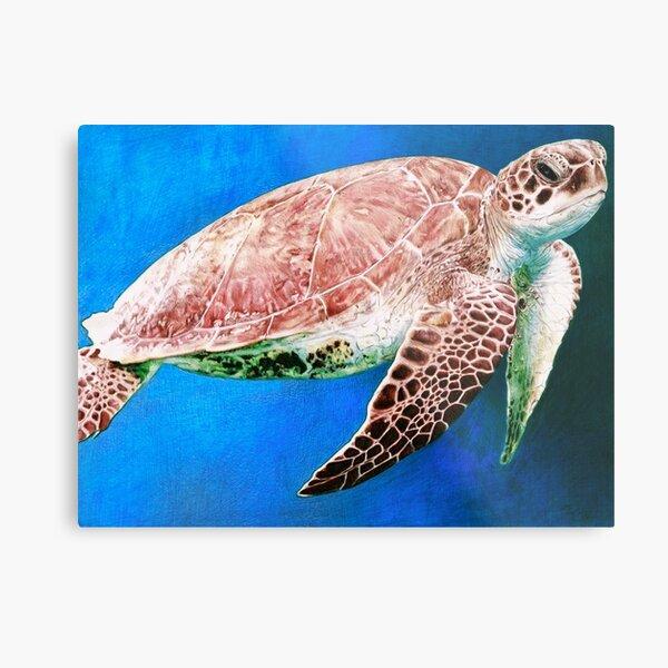 Sea Turtle - Ballpoint Pen Metal Print
