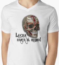 Lucha Hasta El Hueso RM Men's V-Neck T-Shirt