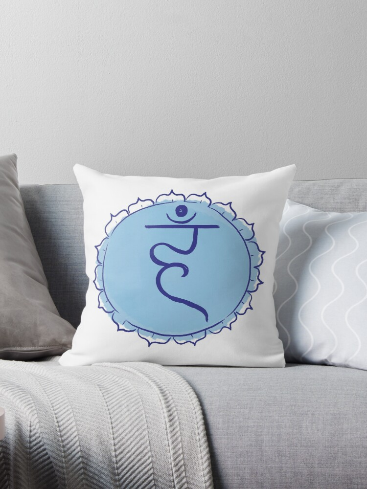 Throat chakra mandala design by juliacreates