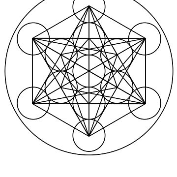 Metatron's Cube Sacred Geometry Design by calebprue