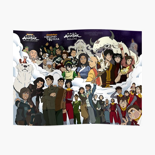 Personnages univers Avatar Poster