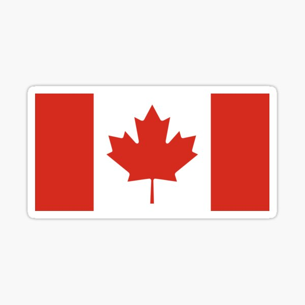 Official Flag of Canada Sticker