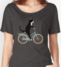 Cat on Bike Women's Relaxed Fit T-Shirt