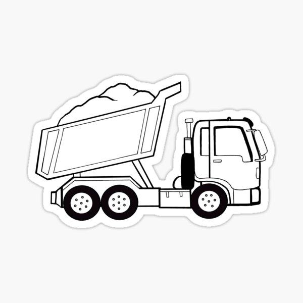 Construction Dump Truck  Sticker