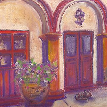 Siesta Alley (pastel) by nikihilsabeck