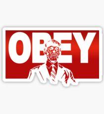 Obey Zombie Sticker