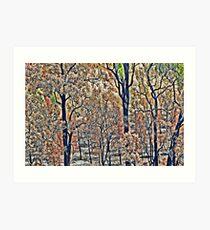 Bushfire Tapestry Art Print
