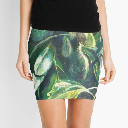 Avocado Lights (acrylic) Mini Skirt