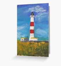 Tarbat Ness Lighthouse, Portmahomack, Scottish Highlands Greeting Card