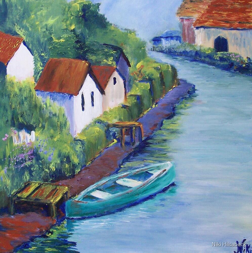 « Along the Canal (Acrylic) » par Niki Hilsabeck