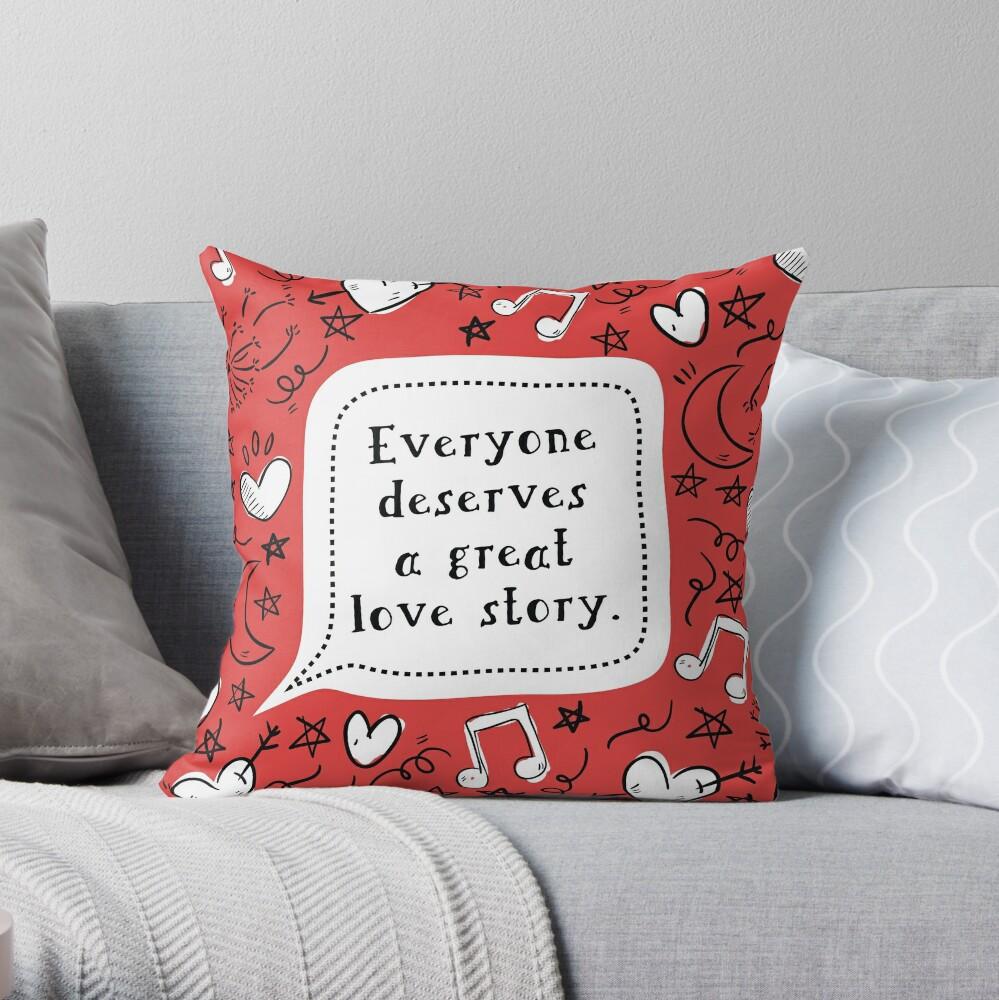 Liebesgeschichte [Liebe, Simon] Dekokissen