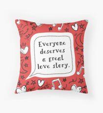 Love Story [Love, Simon] Throw Pillow