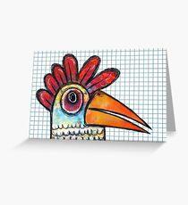 Chicken Scratch  Greeting Card