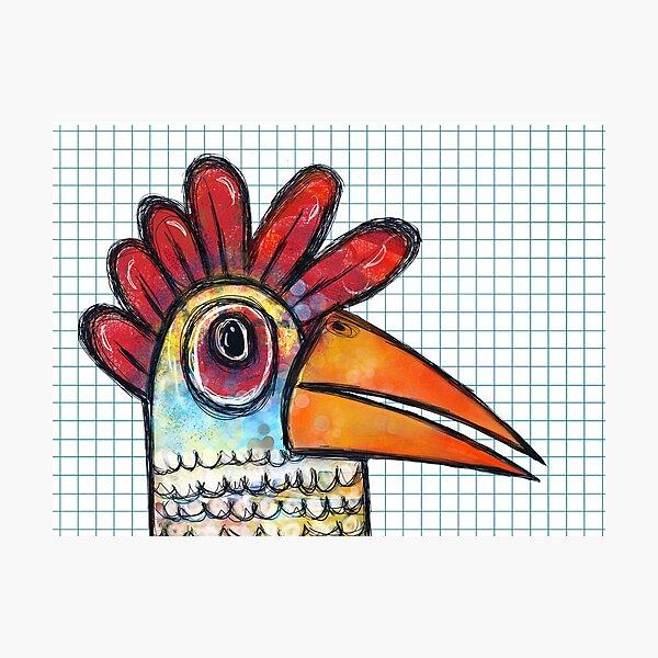 Chicken Scratch  Photographic Print