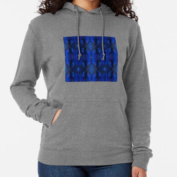 Majorelle Blue, Pattern, tracery, weave, template, piece, figure, type, form Lightweight Hoodie
