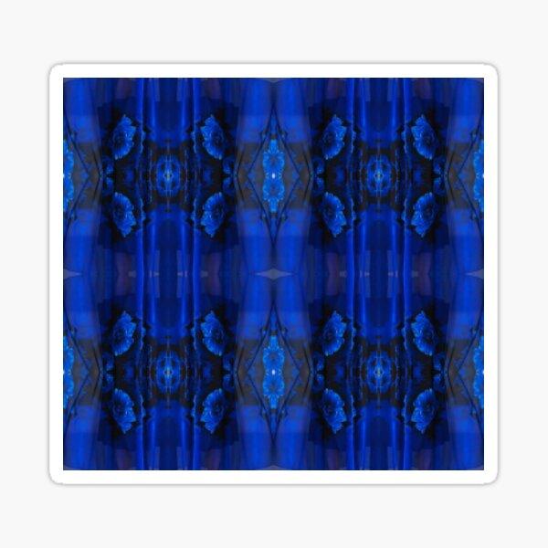 Majorelle Blue, Pattern, tracery, weave, template, piece, figure, type, form Sticker