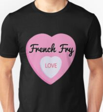 French Fry Love Valentine's Day Hearts  Unisex T-Shirt