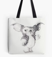 Gizmo from Gremlins Ballpoint Pen Drawing Tote Bag