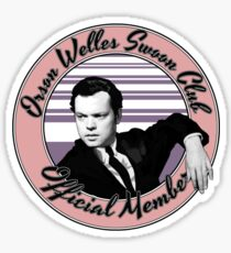 Orson Welles Swoon Club - Faded Pink Sticker
