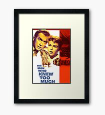 THE MAN WHO KNEW TOO MUCH Framed Print
