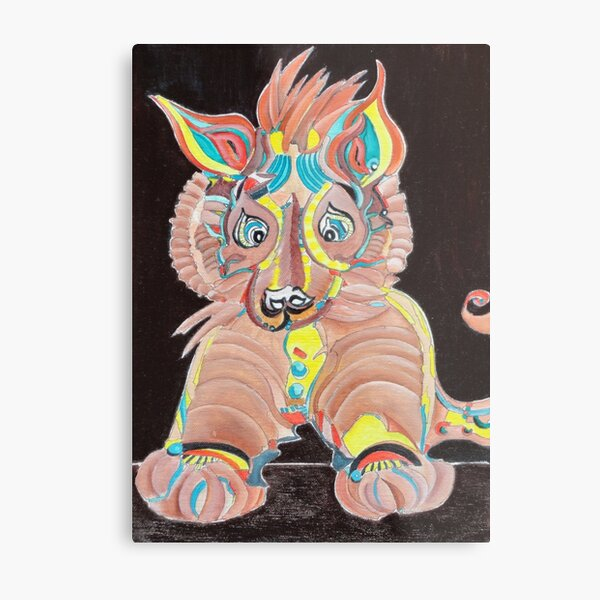 Tiger Dog Metal Print