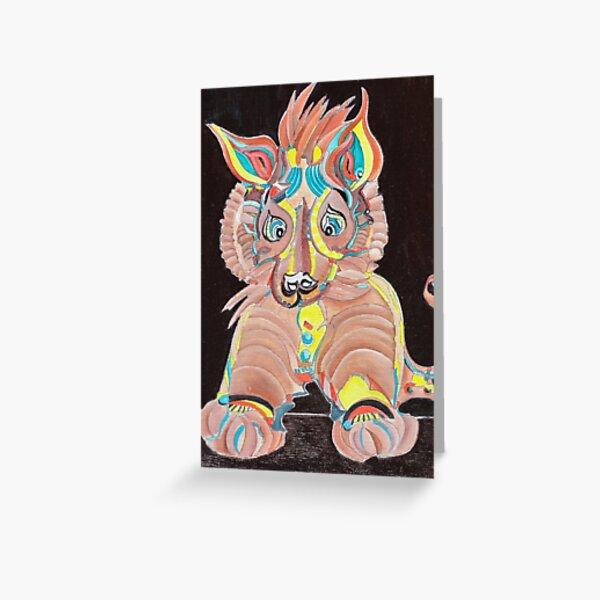 Tiger Dog Greeting Card
