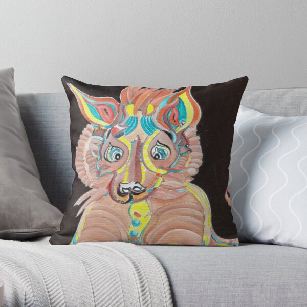 Tiger Dog Throw Pillow