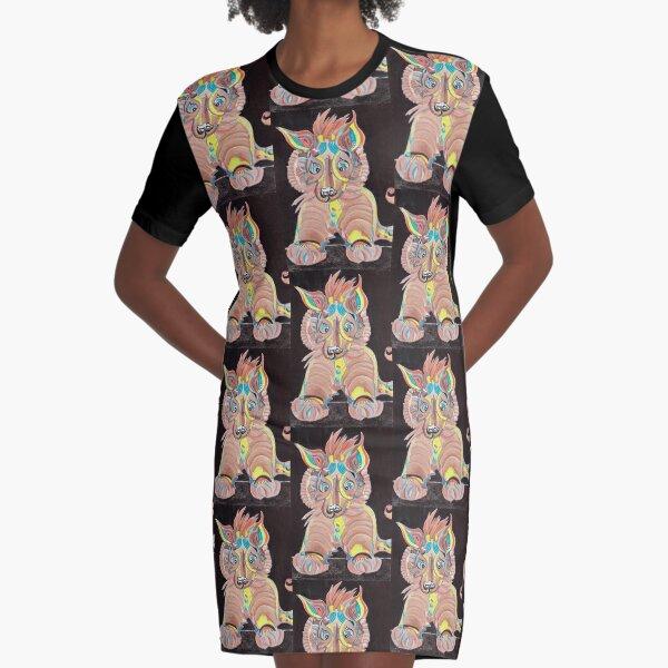 Tiger Dog Graphic T-Shirt Dress