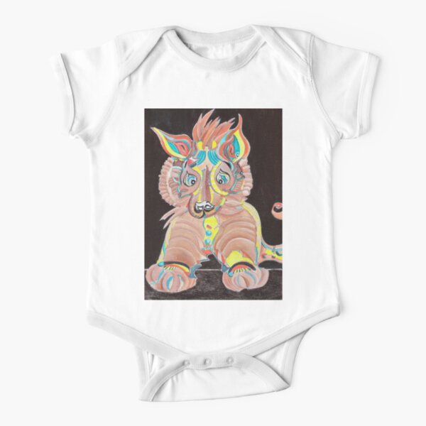 Tiger Dog Short Sleeve Baby One-Piece