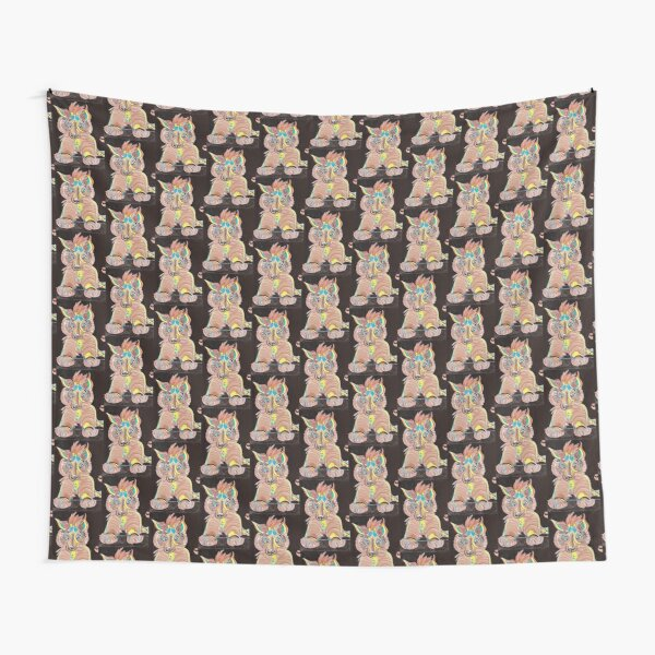 Tiger Dog Tapestry