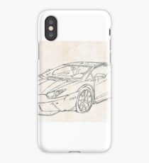 Lamborghini Aventador Sketching iPhone Case/Skin