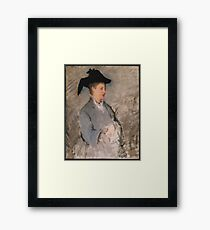 Madame Édouard Manet (Suzanne Leenhoff, 1830–1906) Framed Print