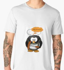Penguin with grill sausage Men's Premium T-Shirt