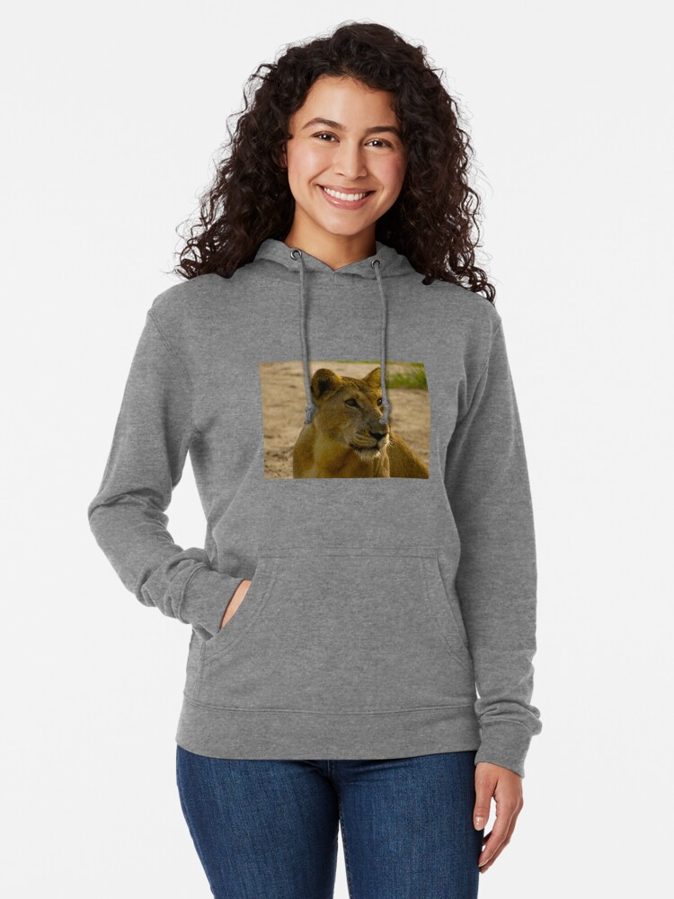 Alternate view of pregnant lioness relaxed Lightweight Hoodie